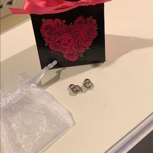 Brighton rhinestone heart earring charms